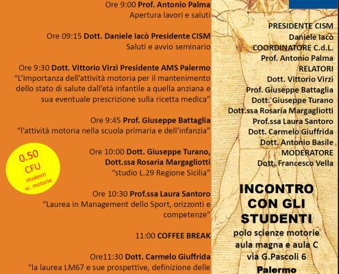 Seminario-Università di Palermo-Scienze Motorie-Prof. Carmelo Giuffrida-Catania