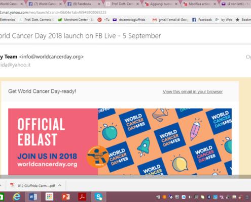 Campagna contro il cancro 2018-Cancro-tumore-carcinoma-prevenzione-attività fisica-adattata-esercizio fisico-adattato-Prof. Carmelo Giuffrida-Catania-2