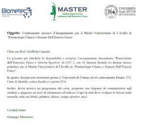 Prescrizione di Esercizio Fisico-Università di Catania-Master di Posturologia Clinica-Prof. Carmelo Giuffrida-Catania-2
