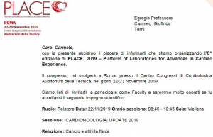 Oncologia-Cancro-Tumore-Attività Fisica-Prof. Carmelo Giuffrida- Catania-3-PLACE-Relatore-Cancro e Attività Fisica