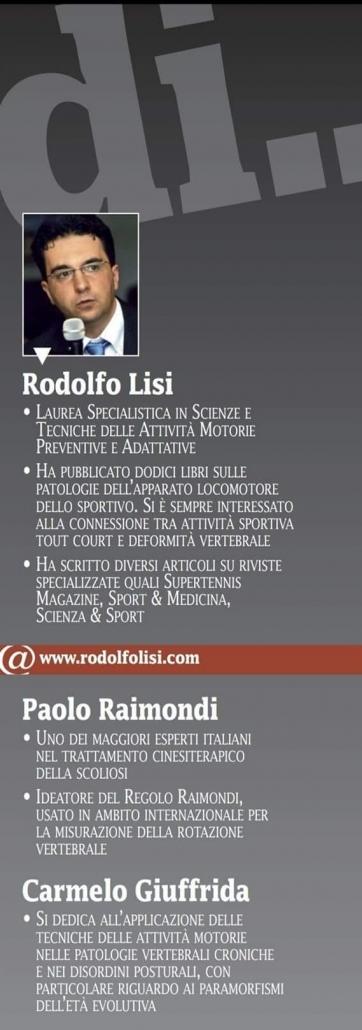 Scoliosi e Nuoto Miti e Tabu da sfatare su Scienza & Sport - Prof. Carmelo Giuffrida - Catania-2