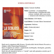 Scheda editoriale libro scoliosi Carmelo Giuffrida - Cavinato Editore International