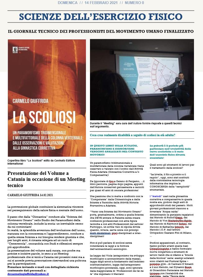 meeting sulla scoliosi a Catania-Studio prof. Carmelo Giuffrida-presentazione libro 1